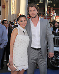 "Elsa Pataky and Chris Hemsworth at The Marvel Studios Premiere of "" Captain America : The First Avenger ""  held at The El Capitan Theatre in Hollywood, California on July 19,2011                                                                               © 2011 DVS/Hollywood Press Agency"