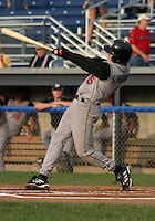 August 12, 2003:  Scott Robinson of the Tri-City ValleyCats during a game at Dwyer Stadium in Batavia, New York.  Photo by:  Mike Janes/Four Seam Images