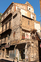 Unrepaired second world war bomb damage,  Palermo old town, Sicily