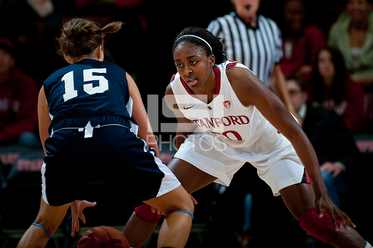 STANFORD, CA - NOVEMBER 9: Nnemkadi Ogwumike at Maples Pavilion, November 9, 2010 in Stanford, California.