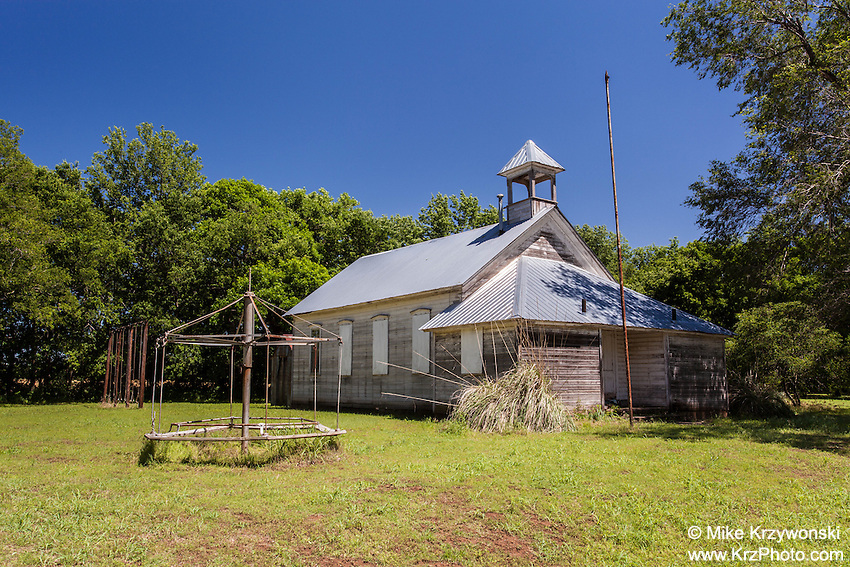 Historic Schoolhouse w/ Merry-Go-Round in Drury, KS