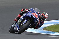 October 27, 2018: Maverick Vinales (SPA) on the No.25 Yamaha from Movistar Yamaha Motogp during practice session three at the 2018 MotoGP of Australia at Phillip Island Grand Prix Circuit, Victoria, Australia. Photo Sydney Low