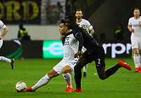 Lautaro Martinez (Inter Mailand, Internazionale Milano) gegen Evan N'Dicka (Eintracht Frankfurt) - 07.03.2019: Eintracht Frankfurt vs. Inter Mailand, UEFA Europa League, Achtelfinale, Commerzbank Arena, DISCLAIMER: DFL regulations prohibit any use of photographs as image sequences and/or quasi-video.