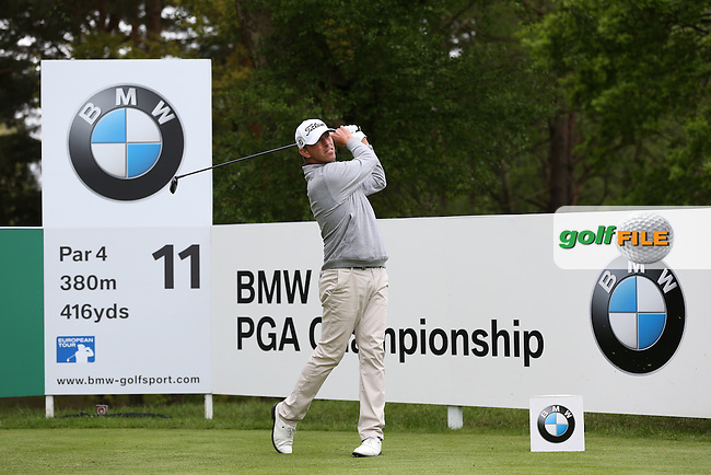 Soren Hansen (DEN) during Round Two of the 2015 BMW PGA Championship over the West Course at Wentworth, Virginia Water, London. 22/05/2015Picture David Lloyd, www.golffile.ie.