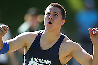 Auckland's Johan Smalberger competes in the men's javelin during day two of the National athletics championships at Newtown Park, Wellington, New Zealand on Saturday, 28 March 2009. Photo: Dave Lintott / lintottphoto.co.nz