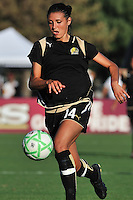 19 July 2009: Greer Barnes of the FC Gold Pride controls the ball during the game at Buck Shaw Stadium in Santa Clara, California.  The Boston Breakers defeated the FC Gold Pride, 1-0.