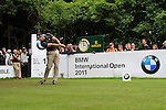 Sergio Garcia (ESP) tees off on the par3 17th tee during of Day 3 of the BMW International Open at Golf Club Munchen Eichenried, Germany, 25th June 2011 (Photo Eoin Clarke/www.golffile.ie)