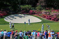 Lucas Bjerregaard (DEN) on the 13th green during Wednesdays preview at the The Masters , Augusta National, Augusta, Georgia, USA. 10/04/2019.<br /> Picture Fran Caffrey / Golffile.ie<br /> <br /> All photo usage must carry mandatory copyright credit (&copy; Golffile | Fran Caffrey)