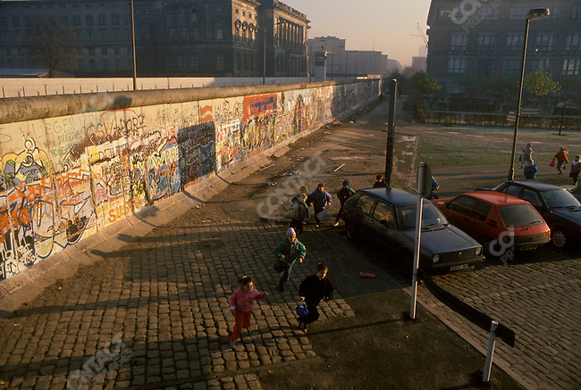 The opening of the Berlin Wall. Berlin, West Germany, November 1989