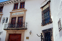 The William Spratling Museum or Museo de Guillermo in Taxco, Guerrero, Mexico. The former home of American silver designer William Spratling now houses a museum showcasing Spratling's private collection of Mexican pre-Columbian artifacts.