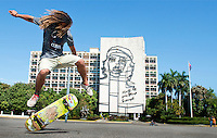 Skaters at the Jose Miguel Gomez monument, Vedado, Havana, Cuba