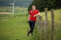 Leave the EU voter Jacob Anthony at his family's Cwm Risca farm in Tondu, near Bridgend, Wales, UK. Monday 13 June 2016