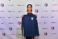 Los Angeles, CA - Thursday January 12, 2017: Darian Jenkins during the 2017 NWSL College Draft at JW Marriott Hotel.