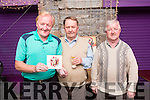 Michael 'Fox' O'Connor, Dermot Royal, Pat O'Mahony at Local Singer Mark Leen's launch night of his  New Album 'Summer Party' at the Greyhound Bar on Thursday
