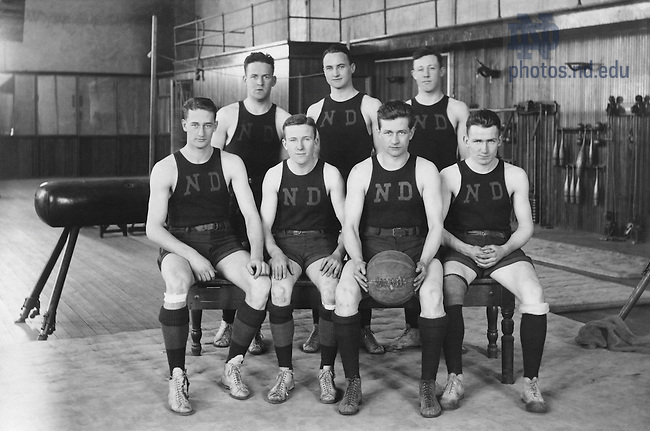 GTJS 7/28:  Men's Basketball Team, 1913..Image from the University of Notre Dame Archives.