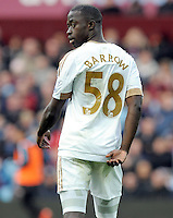 Modou Barrow of Swansea City during the Barclays Premier League match between Aston Villa v Swansea City played at the Villa Park Stadium, Birmingham on October 24th 2015
