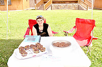 RACHEL DICKERSON/MCDONALD COUNTY PRESS Shelby Knott of the Stella area was selling baked goods at the Pineville Farmers Market on June 4.