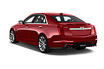Car pictures of rear three quarter view of 2018 Cadillac CTS V V 4 Door Sedan Angular Rear