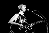 October 17 1987 File Photo - Montreal (Qc) CANADA -Suzanne Vega in concert at the Spectrum. - PHOTO D'ARCHIVE :  Agence Quebec Presse
