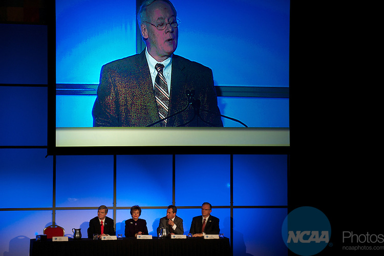 13 JAN 2011: The Opening Business Session held inside the Lila Cockrell Theatre at the Henry B. Gonzalez Convention Center during the annual NCAA Convention held in San Antonio,TX. .Pictured: Ed Ray.(Joshua Duplechian/NCAA Photos)