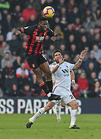 Wolverhampton Wanderers' Joao Moutinho (right) battles with Bournemouth's Jefferson Lerma (left) <br /> <br /> Photographer David Horton/CameraSport<br /> <br /> The Premier League - Bournemouth v Wolverhampton Wanderers - Saturday 23 February 2019 - Vitality Stadium - Bournemouth<br /> <br /> World Copyright © 2019 CameraSport. All rights reserved. 43 Linden Ave. Countesthorpe. Leicester. England. LE8 5PG - Tel: +44 (0) 116 277 4147 - admin@camerasport.com - www.camerasport.com