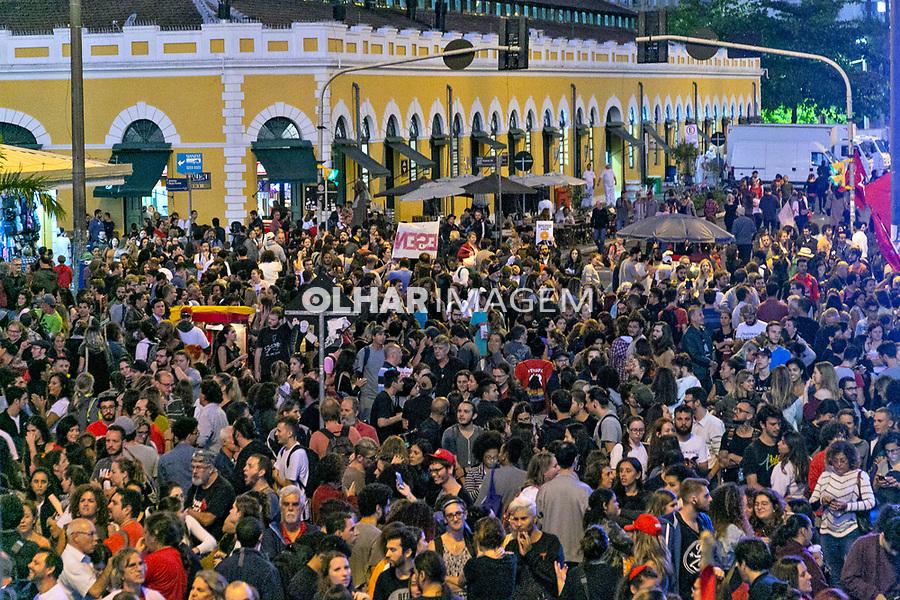 Manifestaçao contra cortes na educacao, Florianopolis, Santa Catarina. 15.05.2019. Foto Andre Arcenio