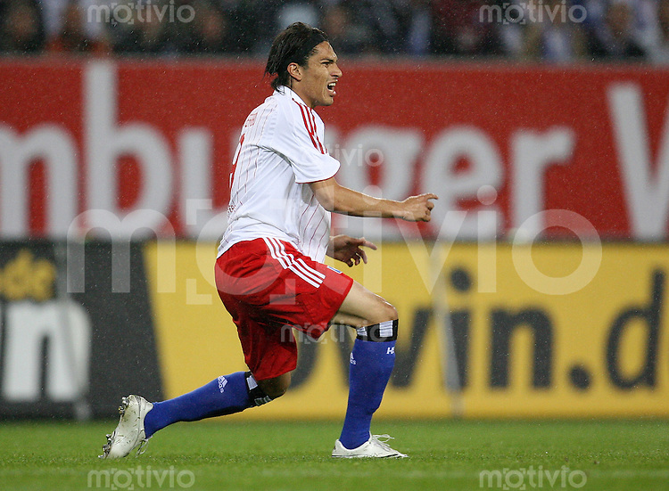 FUSSBALL  INTERNATIONAL  SAISON 07/08  UEEA CUP QUALIFIKATION Hamburger SV - Honved Budapest   Paolo GUERRERO (Hamburg) wuetend