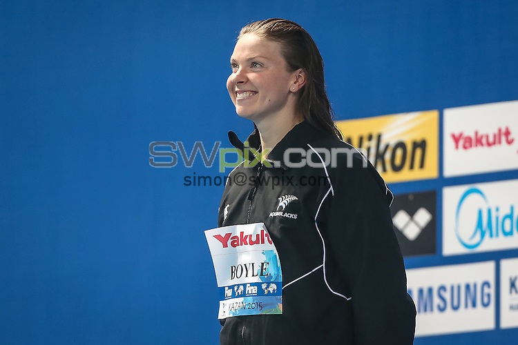 Picture by Alex Whitehead/SWpix.com - 08/08/2015 - Swimming - 16th FINA World Swimming Championships 2015 - Kazan Arena Stadium, Kazan, Russia - New Zealand's Lauren Boyle.