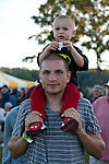 Joe Bell and son Ro  at the Paw Paw Festival at lake Snowden in Albany, Ohio on September 14, 2013.