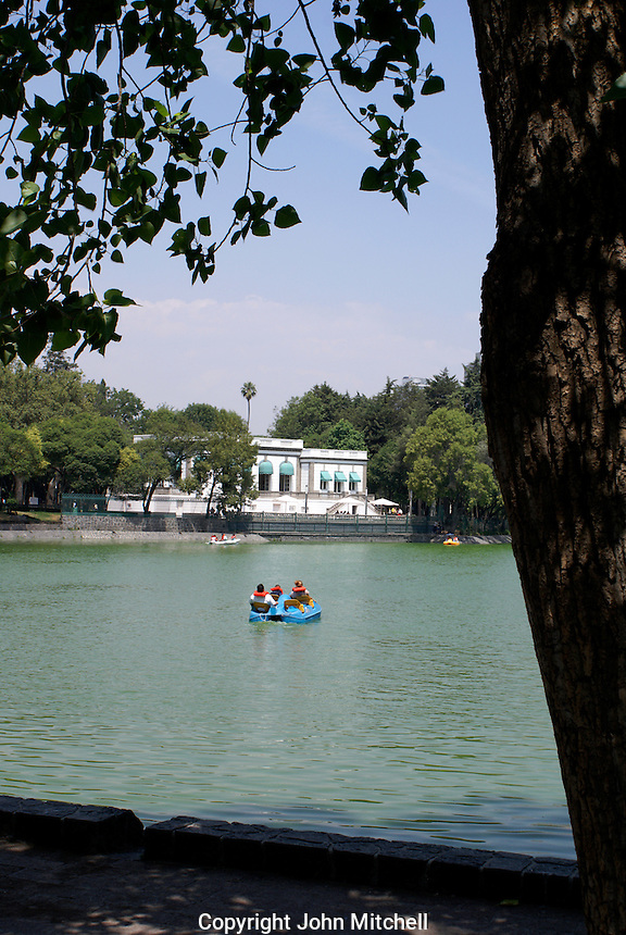 The Lago de Chapultepec and Casa del Lago in the First section of Chapultepec Park, Mexico City