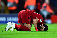 Liverpool's Mohamed Salah celebrates scoring his side's third goal <br /> <br /> Photographer Richard Martin-Roberts/CameraSport<br /> <br /> UEFA Champions League Group C - Liverpool v Crvena Zvezda - Wednesday 24th October 2018 - Anfield - Liverpool<br />  <br /> World Copyright © 2018 CameraSport. All rights reserved. 43 Linden Ave. Countesthorpe. Leicester. England. LE8 5PG - Tel: +44 (0) 116 277 4147 - admin@camerasport.com - www.camerasport.com