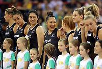07.10.2018 Silver Ferns Erikana Pedersen during the Silver Ferns v Australia netball test match at the Brisbane Entertainment Centre in Brisbane. Mandatory Photo Credit ©Michael Bradley.