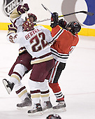 BC ?, Dan Bertram, Ryan Ginand - The Boston College Eagles defeated the Northeastern University Huskies 5-2 in the opening game of the 2006 Beanpot at TD Banknorth Garden in Boston, MA, on February 6, 2006.