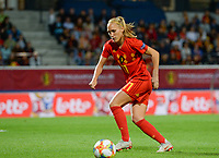 20190903 - LEUVEN , BELGIUM : Belgian Janice Cayman pictured during the female soccer game between the Belgian Red Flames and Croatia , the first womensoccer game for Belgium in the qualification for the European Championship round in group H for England 2021, Tuesday 3 th September 2019 at the King Power Stadion Den Dreef in Leuven , Belgium. PHOTO SPORTPIX.BE | DAVID CATRY