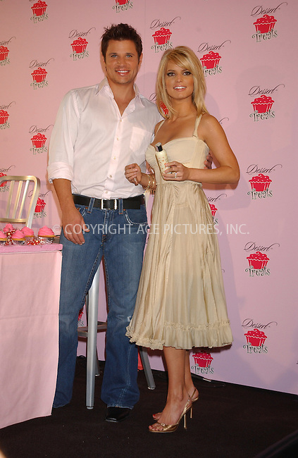 """WWW.ACEPIXS.COM . . . . . ....NEW YORK, FEBRUARY 9, 2005....Nick Lachey and Jessica Simpson at the unveiling of her new fragrance and body care line """"Dessert Treats.""""....Please byline: KRISTIN CALLAHAN - ACE PICTURES.. . . . . . ..Ace Pictures, Inc:  ..Philip Vaughan (646) 769-0430..e-mail: info@acepixs.com..web: http://www.acepixs.com"""