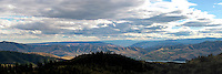 A sunny summer day panoramic view from Echo Ridge south towards Lake Chelan and the Columbia River.