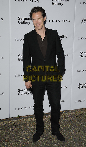 Benedict Cumberbatch.Serpentine Galley Summer Party, Kensington Palace Gardens, London, England..26th June 2012.full length black suit hand in pocket brown top .CAP/CAN.©Can Nguyen/Capital Pictures.
