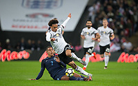 Jake Livermore (West Bromwich Albion) of England fouls Leroy Sane (Manchester City) of Germany during the International Friendly match between England and Germany at Wembley Stadium, London, England on 10 November 2017. Photo by Andy Rowland.