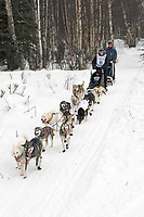 Melanie Gould w/Iditarider on Trail 2005 Iditarod Ceremonial Start near Campbell Airstrip Alaska SC