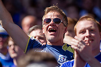Cardiff fans celebrate during the Sky Bet Championship match between Cardiff City and Reading at the Cardiff City Stadium, Cardiff, Wales on 6 May 2018. Photo by Mark  Hawkins / PRiME Media Images.