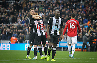 Celebrations at full time during the Premier League match between Newcastle United and Manchester United at St. James's Park, Newcastle, England on 6 October 2019. Photo by J GILL / PRiME Media Images.