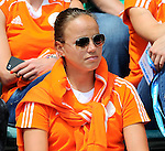 The Hague, Netherlands, June 15: Players of the dutch women team celebrate before the field hockey gold match (Men) between Australia and The Netherlands on June 15, 2014 during the World Cup 2014 at Kyocera Stadium in The Hague, Netherlands. Final score 6-1 (2-1)  (Photo by Dirk Markgraf / www.265-images.com) *** Local caption *** Maartje Paumen