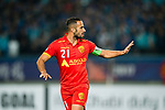 Adelaide United Defender Tarek Elrich gestures during the AFC Champions League 2017 Group H match between Jiangsu FC (CHN) vs Adelaide United (AUS) at the Nanjing Olympics Sports Center on 01 March 2017 in Nanjing, China. Photo by Marcio Rodrigo Machado / Power Sport Images