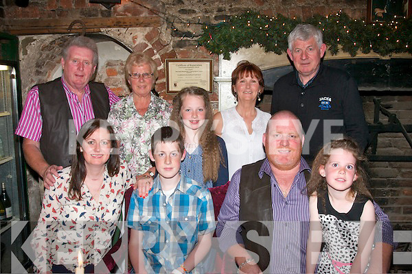 TEENAGER: John O'Mahony Jnr (seated 2nd left) had a great time with his family in Finnegan's, Tralee celebrating his 13th birthday (seated) l-r: Caroline, John Jnr, PJ and Jennifer O'Mahony. Back l-r: PJ Snr and Mary and Nicole O'Mahony, with Marian and James Bowler.
