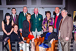 Dooks Golf Club members at the Kerry Sports Star awards in the Malton Hotel on Friday night front row l-r: Elaine Ahern, Deilia Foley, Patricia Murphy, Helen Ahern. Back row: Eric Dennehy, Willie Murphy 2015 Captain, Denis Guerin 2016 Captain, Ann Guerin, Pat Griffin and Gene Ahern