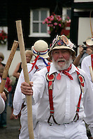 Morris dancer in Broadstairs, Kent, UK