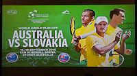 DAVIS CUP - AUSTRALIA V SLOVAKIA - 14-18/09/2016