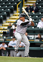 Jupiter Hammerheads second baseman Rafael Furcal (7), on rehab assignment from the Miami Marlins, at bat during a game against the Bradenton Marauders on April 19, 2014 at McKechnie Field in Bradenton, Florida.  Bradenton defeated Jupiter 4-0.  (Mike Janes/Four Seam Images)
