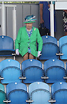 Glasgow 2014 Commonwealth Games<br /> Her Majesty the Queen takes her seat at the hockey.<br /> Wales v England<br /> Glasgow National Hockey Centre<br /> <br /> 24.07.14<br /> &copy;Steve Pope-SPORTINGWALES