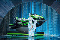 Helen Mirren poses with a jet ski during the live ABC Telecast of The 90th Oscars&reg; at the Dolby&reg; Theatre in Hollywood, CA on Sunday, March 4, 2018.<br /> *Editorial Use Only*<br /> CAP/PLF/AMPAS<br /> Supplied by Capital Pictures